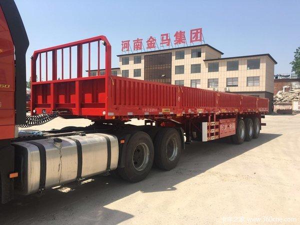 河南金马诚信企业,全自动机械焊接技术,轻量化,质量三包厢式半挂车图片