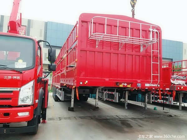 富华挂车重庆、云、贵、川均可接车仓栅式半挂车图片