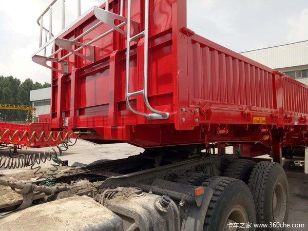 轻量化设计,厂家直销,13米标车侧翻自卸半挂车图片
