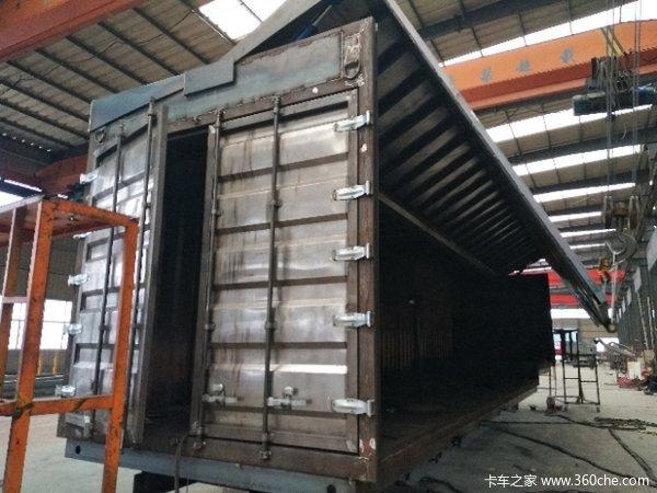 骨架式集装箱半挂车图片