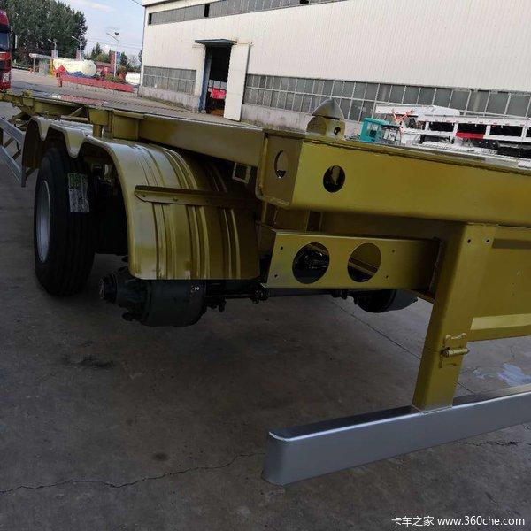 厂家直销各种半挂车,骨架集装箱半挂车骨架式集装箱半挂车图片