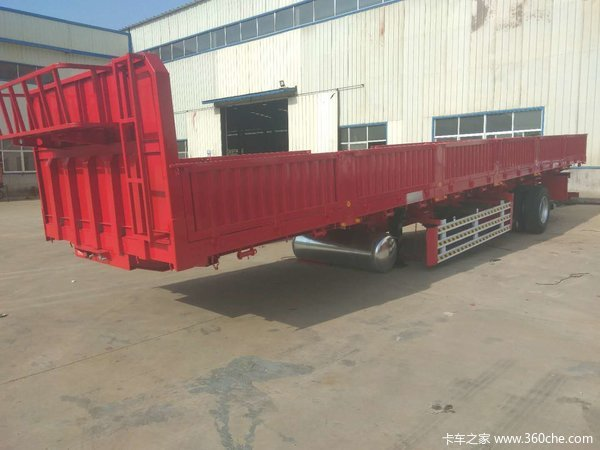 13米x2.55米x0.6米超轻标箱侧翻半挂车,可做加高,可做卧底自卸半挂车图片