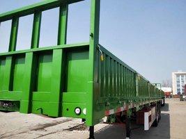 13X2.55X0.6米超轻型标准半挂车,自重5.3吨保啦45吨栏板式半挂车