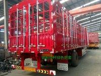 13米高低板花篮,自重5.7吨,承载48吨,上海宝钢材质,仓栅式半挂车图片