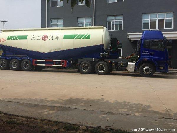 河北光亚罐车现车优惠中!粉粒物料运输半挂车图片