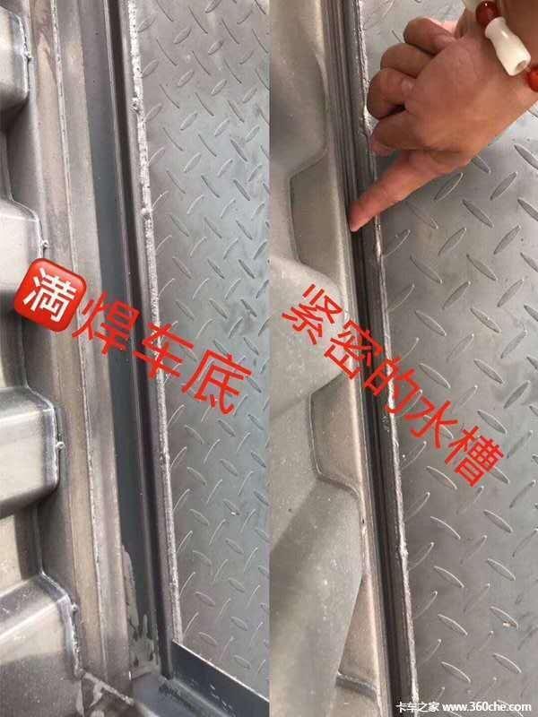 富华13米标箱,侧翻价格另算。(此价格不含轮胎钢圈)栏板式半挂车图片