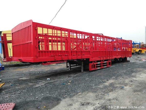 13米高低板花篮仓栅式半挂车图片