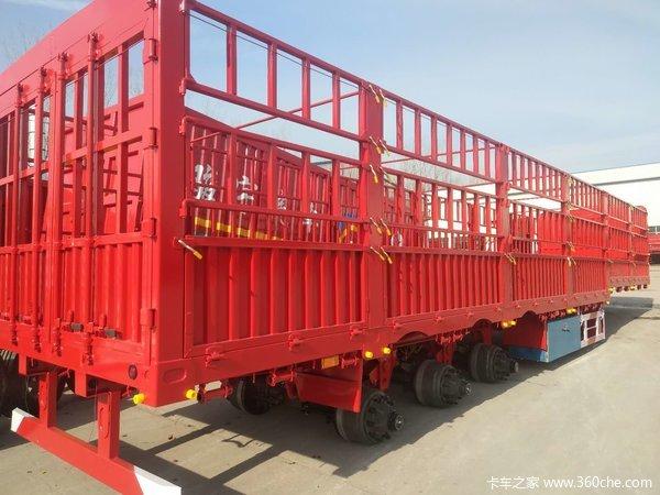 自重轻,拉货保拉50吨最大60吨仓栅式半挂车图片