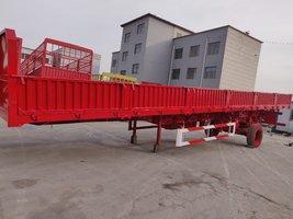 13米×2.55×0.6米标准侧翻整车6.5吨保拉60吨,可做加高栏自卸半挂车