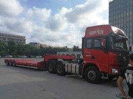 专业定做13米挖机板大件运输低平板半挂车