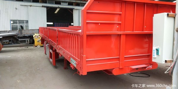 13米60公分自卸车自重6.7吨包拉60自卸半挂车图片