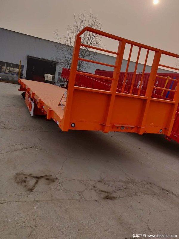 13米平板半挂车平板式半挂车图片