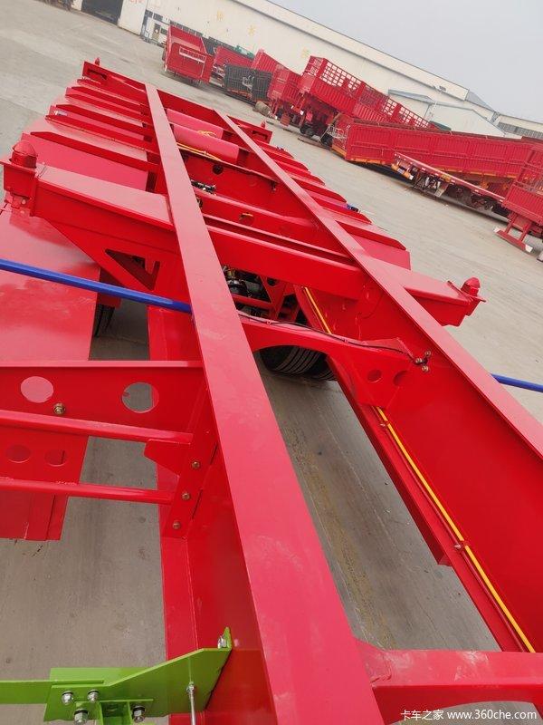 厂家直销,专业制造各种尺寸骨架式集装箱半挂车骨架式集装箱半挂车图片