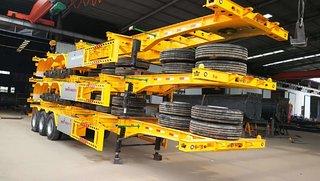 20—40英尺危险品骨架车骨架式集装箱半挂车