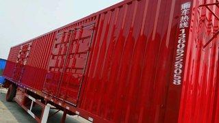 各种规格尺寸的厢车集装箱式半挂车