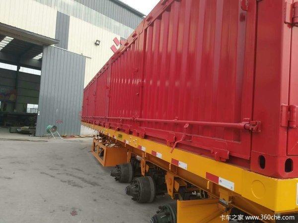 各种规格尺寸的厢车集装箱式半挂车图片