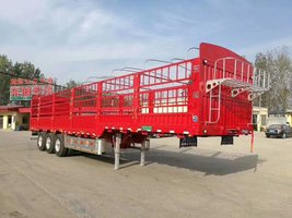 13米轻型高低板花栏,自重5.8吨,包拉50吨仓栅式半挂车