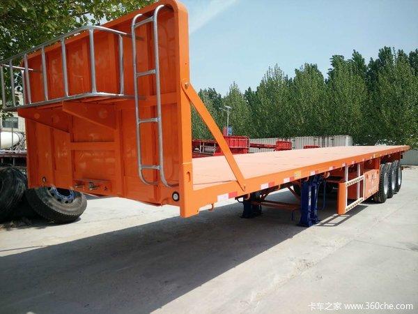 瓷砖线材等货物运输平板半挂车平板式半挂车图片