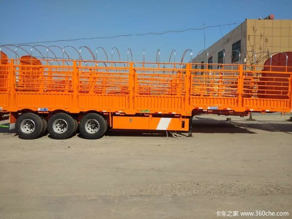 两广专用13米花篮仓栅式半挂车图片