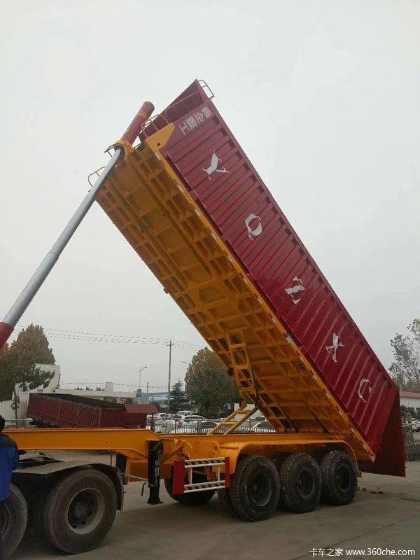 陕西铜川厂家直销后翻自卸半挂车自卸半挂车图片