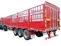 厂家直销仓栅式半挂车,轻量化设计载货多更实用仓栅式半挂车图片