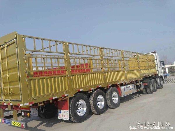 全新一体侧翻:11米长?2.55米宽?1.8米高自卸半挂车图片