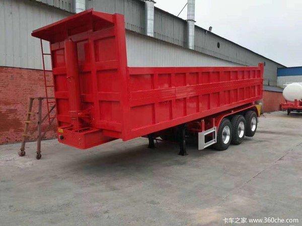 8米–9.5米一体后翻半挂车可外加高40公分到1.5米自卸半挂车图片