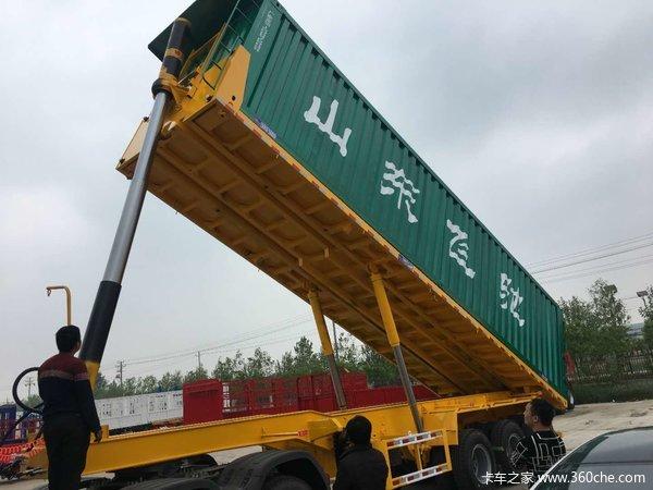 8米—11米平板后翻自卸最安全更结实的自卸车自卸半挂车图片