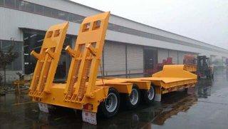 长9米/11米/13米/13.75米/17.5米特种设备运输半挂车凹梁式低平板