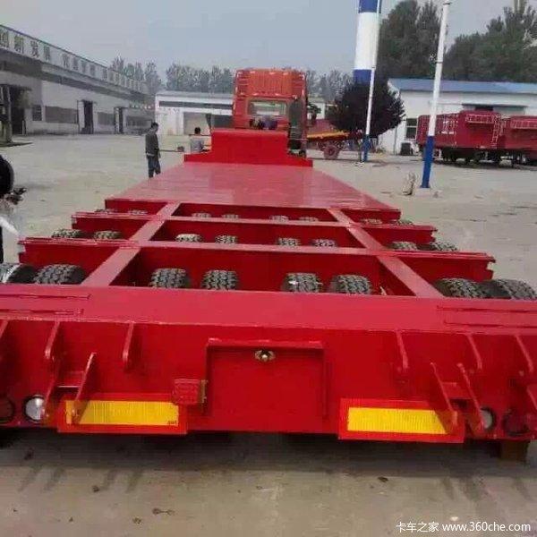 长9米/11米/13米/13.75米/17.5米特种设备运输半挂车凹梁式低平板图片