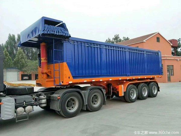 超轻精品7米2至9米5后翻自卸车半挂车自卸半挂车图片