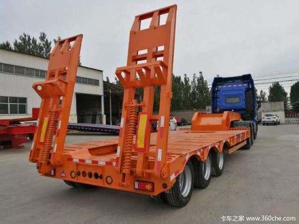 专业特种车研发制造单挂可分期付款轴线挂车图片
