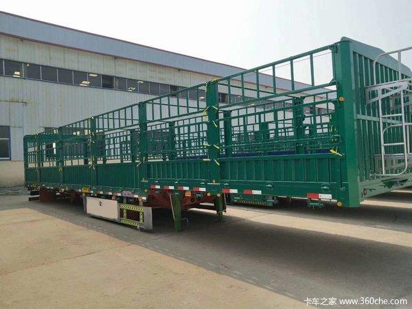 11-13米侧翻一体后翻平板自卸轻量化自卸半挂车图片