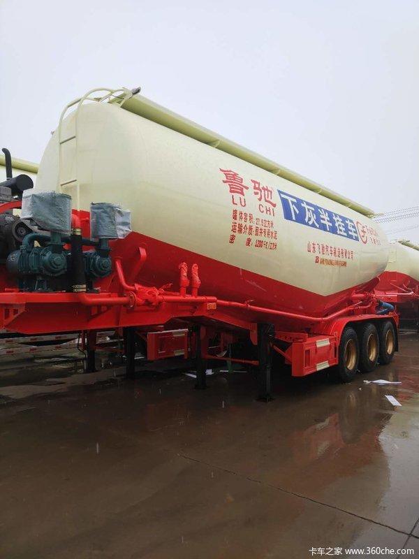 45立方散装水泥罐车粉粒物料运输半挂车图片