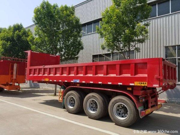 后翻一体车,内高85公分长度9米不改型车辆轻自卸半挂车图片