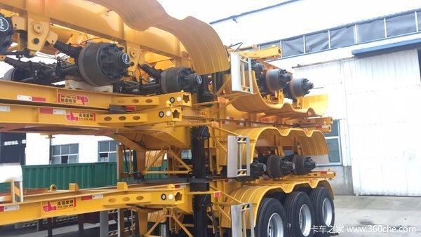 各种英尺集装箱半挂车支持以旧换新以重换轻集装箱式半挂车图片