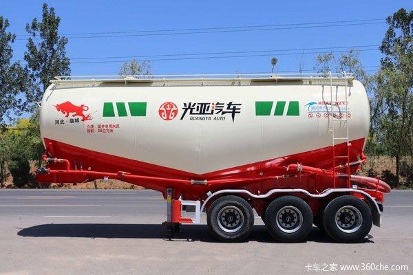 光亚罐车,自重轻,卸灰快,剩灰少,价格优。粉粒物料运输半挂车图片