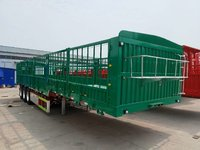 13米轻体高栏整车5.4吨仓栅式半挂车图片