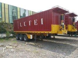 长度9米宽度2.55米高度2米后翻半挂车自卸半挂车