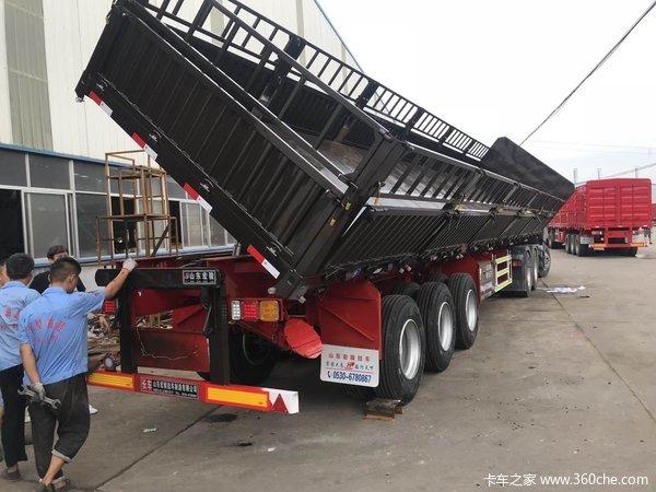 13X2.55X0.6米标准侧翻自卸半挂车自卸半挂车图片