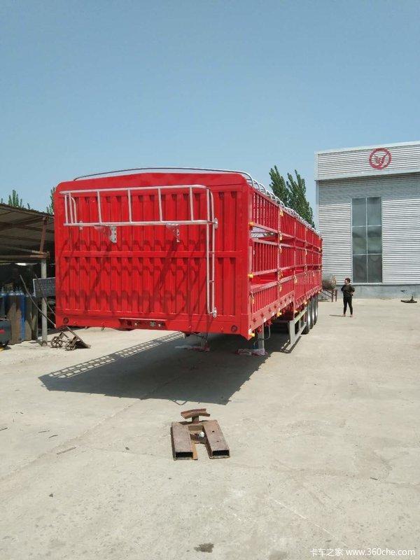 13米仓栅半挂车厂家直销价格优惠仓栅式半挂车图片
