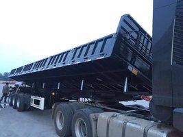 厂家直销:超轻型侧翻自卸车`长13米/11米、可以旧换新自卸半挂车