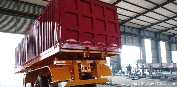 后翻自卸半挂车厂家直销高强钢制造自卸半挂车图片