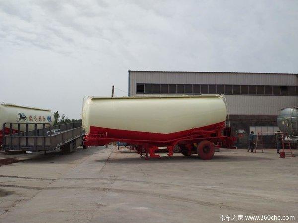 厂家直销散装水泥罐车下灰车立方可选粉粒物料运输半挂车图片