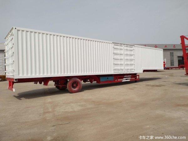 二十英尺四十英尺四十八英集装箱半挂车集装箱式半挂车图片
