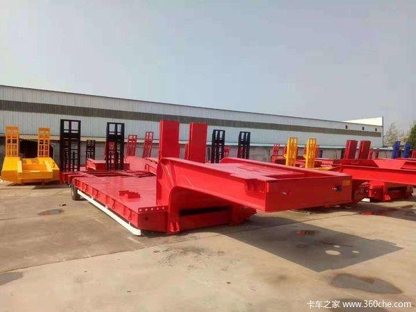 13米工程机械低平板大件运输液压爬梯三线六轴四线八轴五线十轴低平板半挂车图片