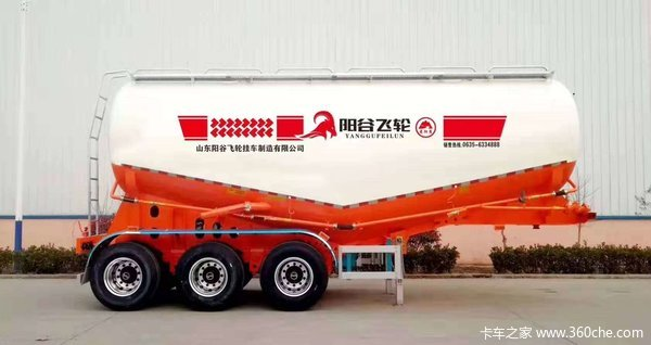 35--40立方轻量化罐车粉粒物料运输半挂车图片