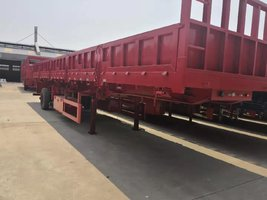 13米拉钢材专用侧翻自卸车自卸半挂车