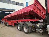 13米轻量化自卸车自卸半挂车图片
