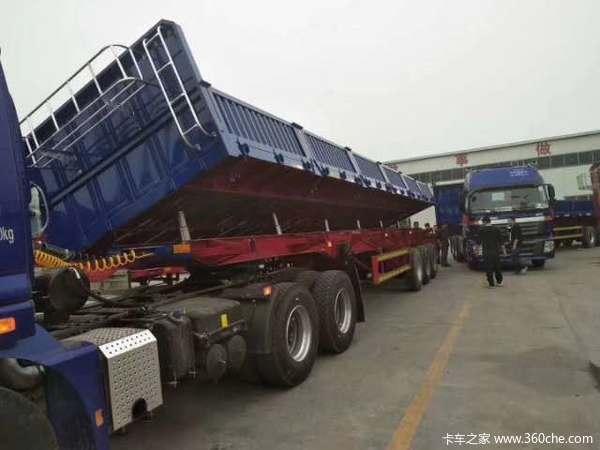 13米标箱侧翻~整车6.8吨自卸半挂车图片